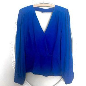 Parker 100% Silk beautiful blue blouse